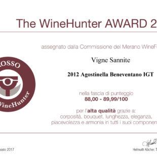 Certificazione di eccellenza da The WineHunter Award per tre vini Vigne Sannite