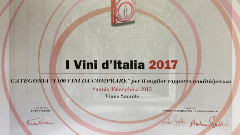Premio a Sannio Falanghina 2015 di Vigne Sannite